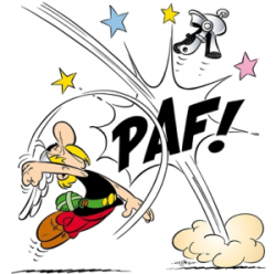 Asterix Romain Coup de Poing